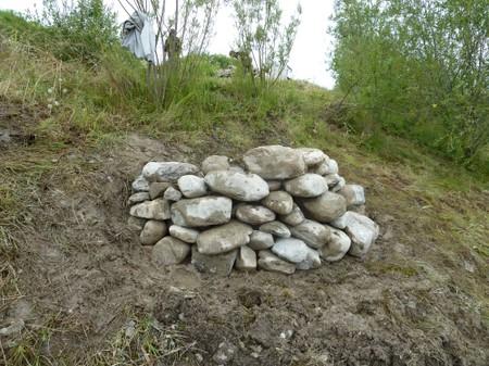 Neu gebaute Steinstruktur